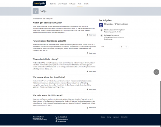 bordguide.de - FAQs Drupal 7 CMS Webdesign