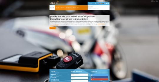 dguard.com - Startseite A/B Testing, reguläre Farbdarstellung