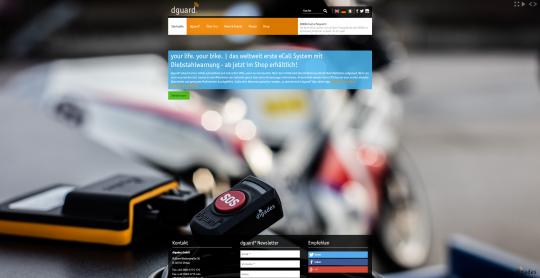 dguard.com - Startseite A/B Testing, alternative Farbdarstellung
