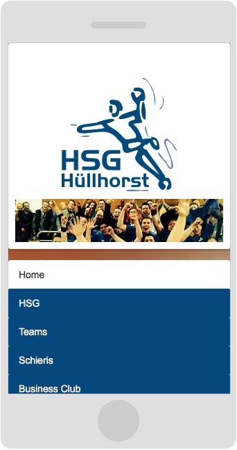 HSG-Huellhorst.de: Responsive Web Design Smartphone Vorschau