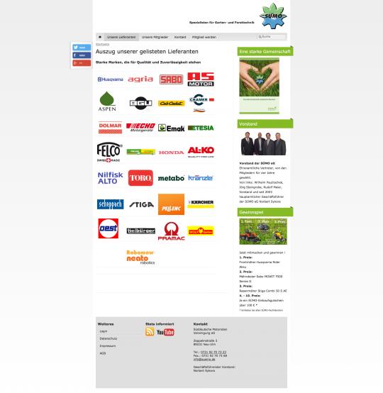 Suemo-eG.de Webdesign: Mitgliederliste