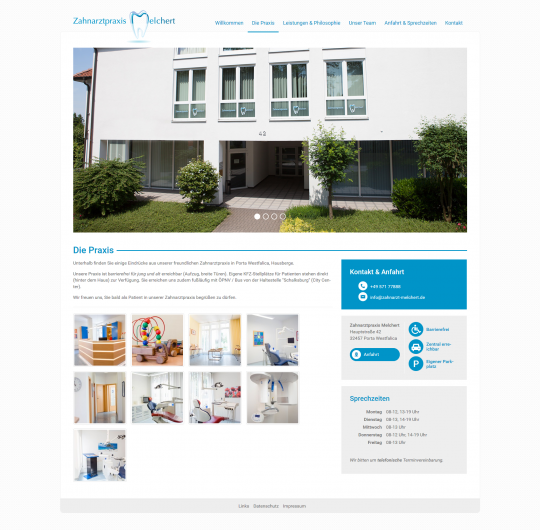 Die Praxis - Webdesign Porta Westfalica Zahnarztpraxis Melchert
