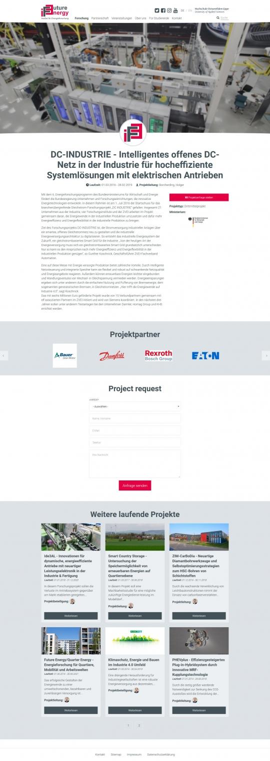 Drupal CMS Webdesigner IFE Projekt Detailseite