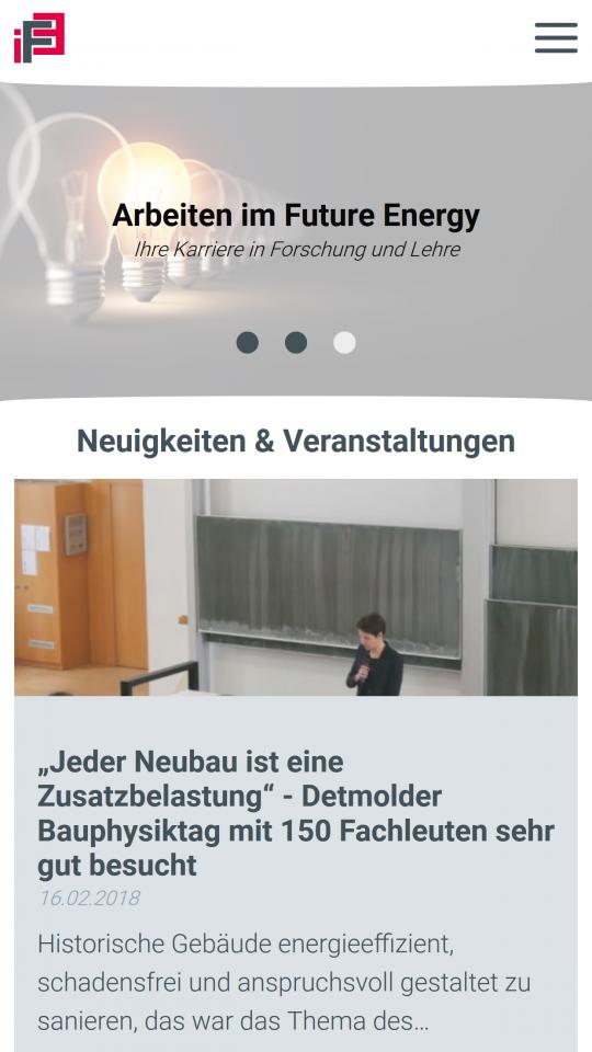 Drupal CMS Webdesigner IFE Neuigkeiten Übersicht