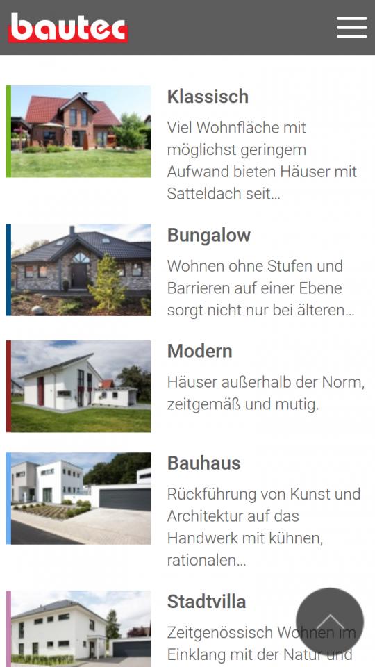 Smartphone: Übersicht Gebäudetypen