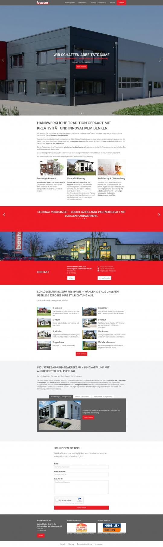 bautec Minden Drupal 8 CMS Website