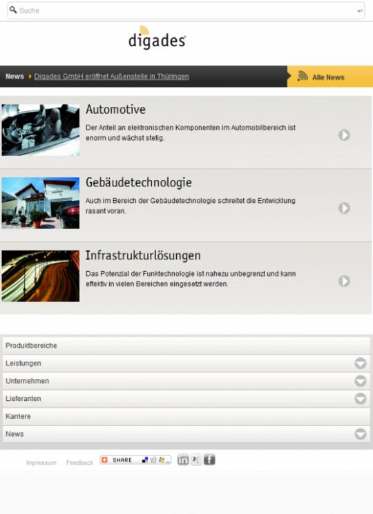 Digades.de Drupal Website Webdesign