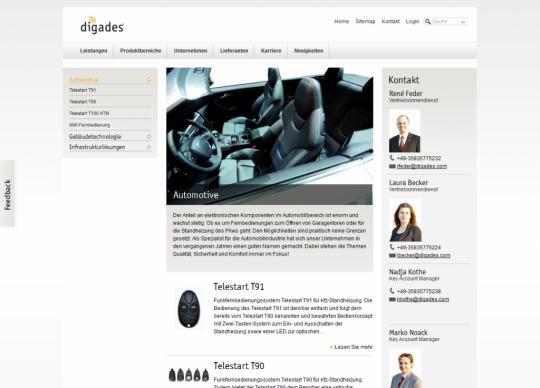 Digades.de Drupal Website Automotive