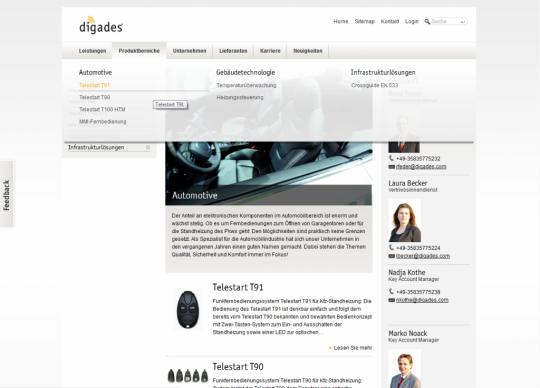Digades.de Drupal Website Mega Menü