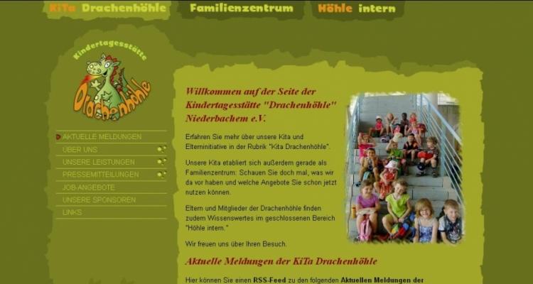Webdesign Drupal Internetauftritt Kindertagesstätte Drachenhöhle e. V.