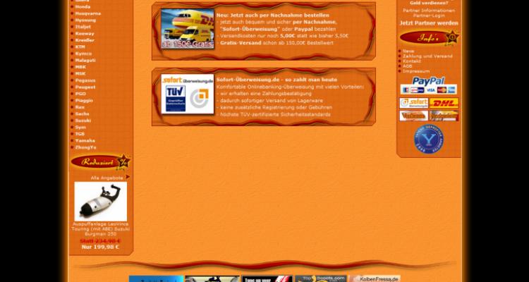 JTL-Shop Entwicklung Onlineshop Scooter-Paradise.de