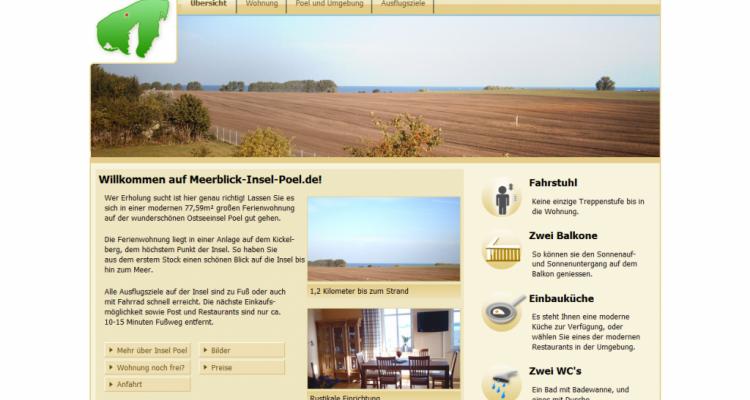Webdesign Ferienwohnung Meerblick Insel Poel