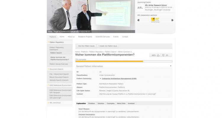 Programmierung Drupal 7 CMS Online-Forschungsplattform