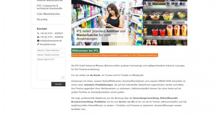 Drupal 7 CMS Website IPS GmbH (Minden in Westfalen)