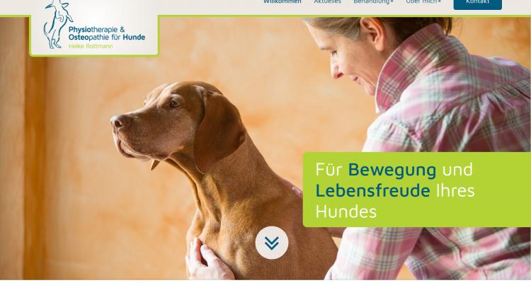 Hundephysio-Minden.de Startseite Desktop PC / Laptop