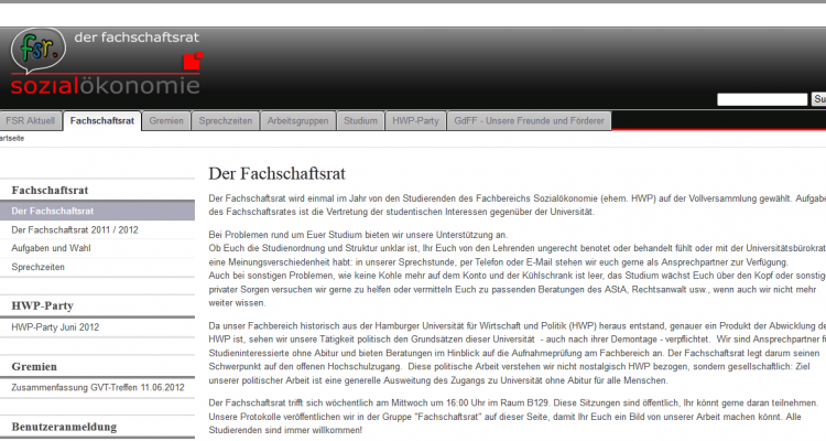 Drupal CMS Services FSR Sozialökonomie Universität Hamburg